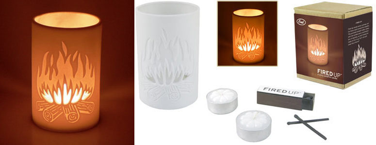 Fired Up! - Fireplace Tea Light Set