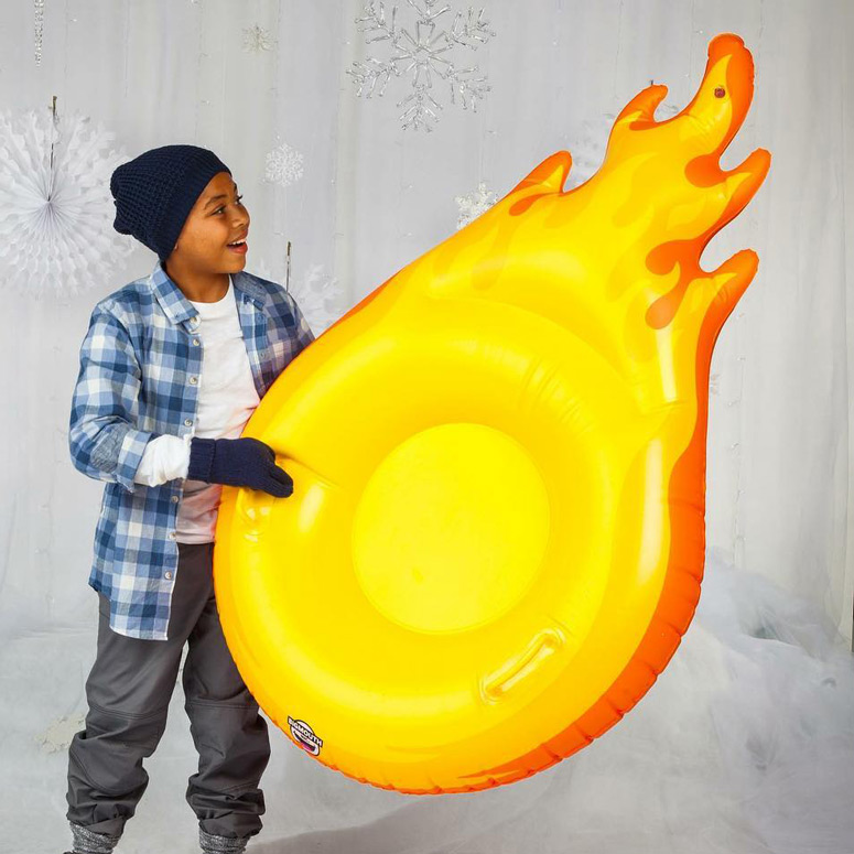 Flaming Fireball Snow Tube
