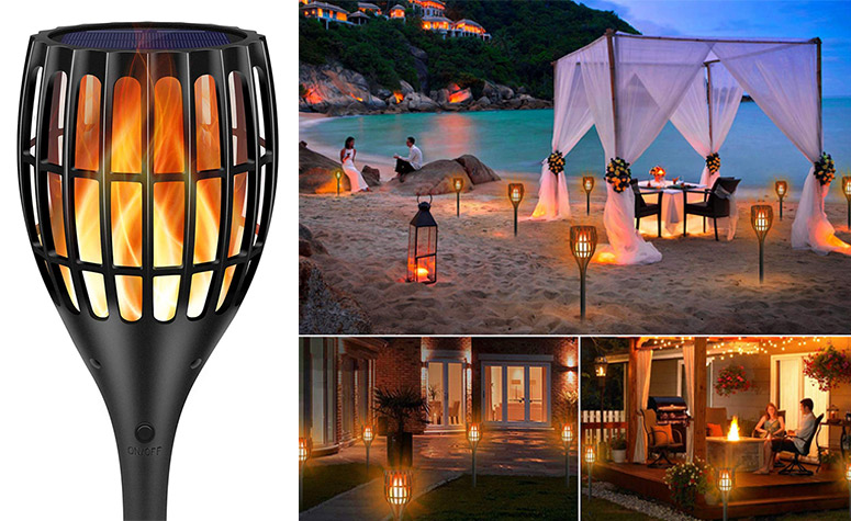 Flickering Flame LED Solar Torches