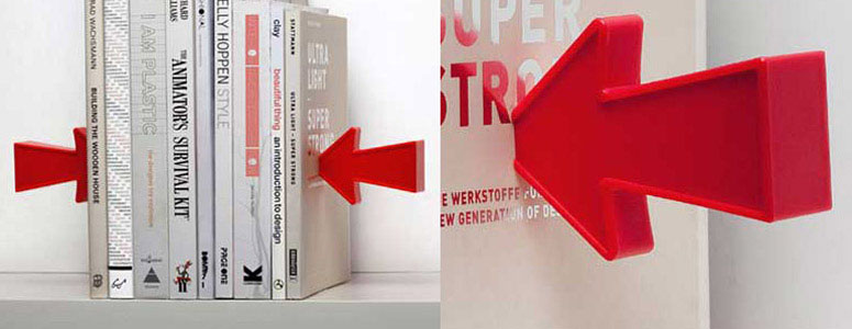 Floating Arrow Illusion Bookends