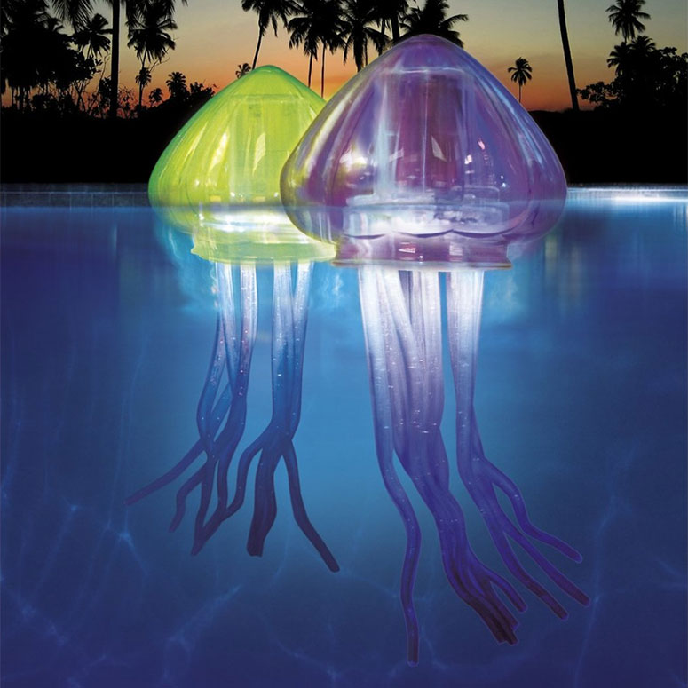 Floating jellyfish pool lights the green head for Jellyfish lights