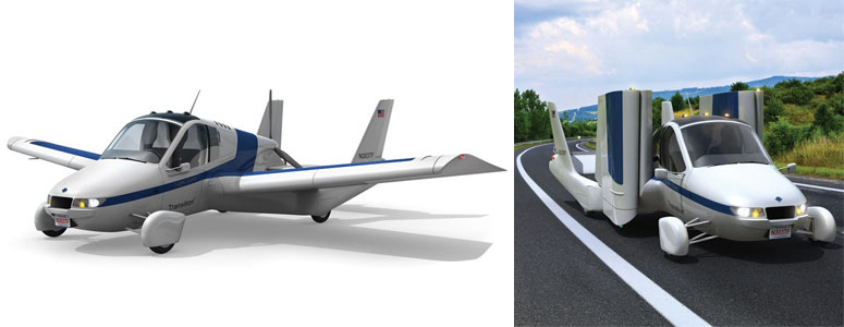 The Flying Car - Converts From Automobile to Aircraft in 30 Seconds