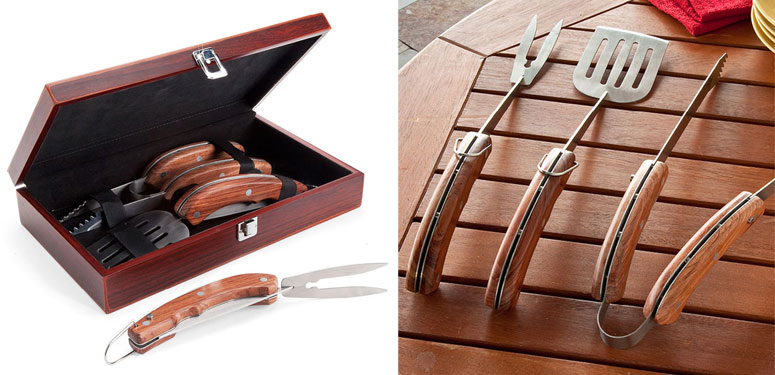 folding grill tools boxed set - Grilling Tools
