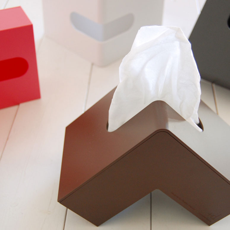 Folio l shaped tissue box the green head - Nose tissue dispenser ...