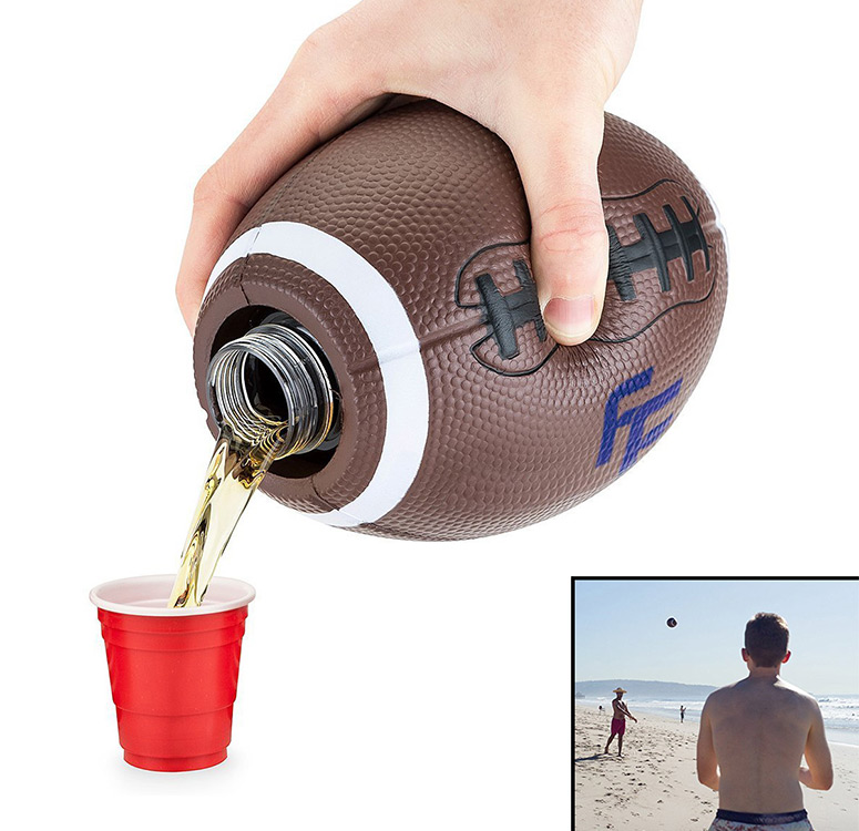 Football Flask - Fill, Throw, and Drink