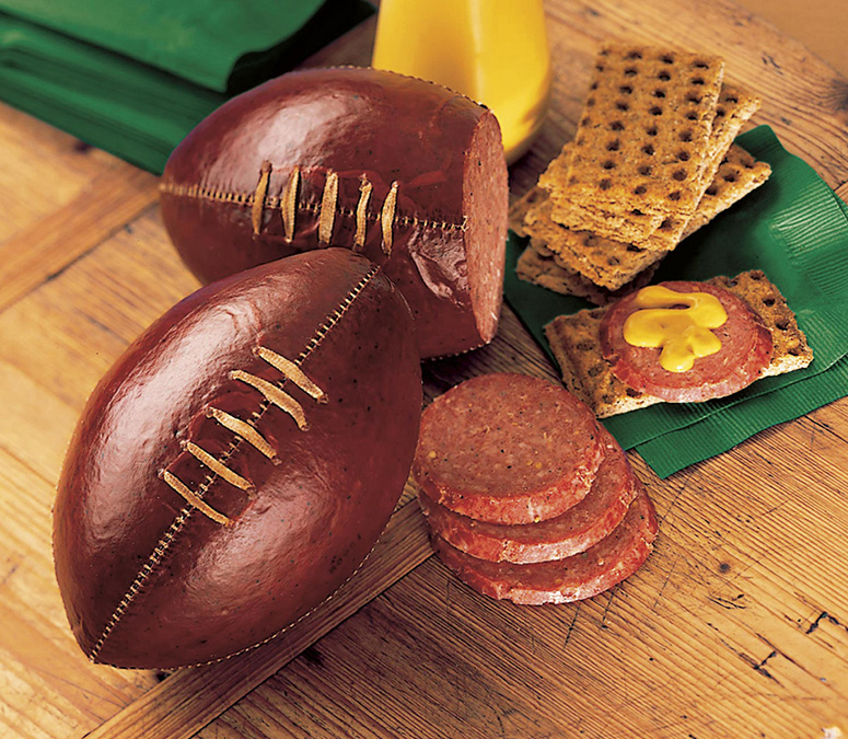 Football Summer Sausage - Complete with Lacing and Stitches