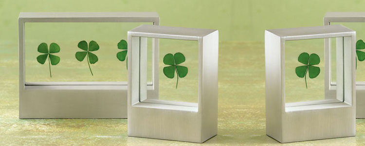 Framed Four-Leaf Clover - Luck of the Irish