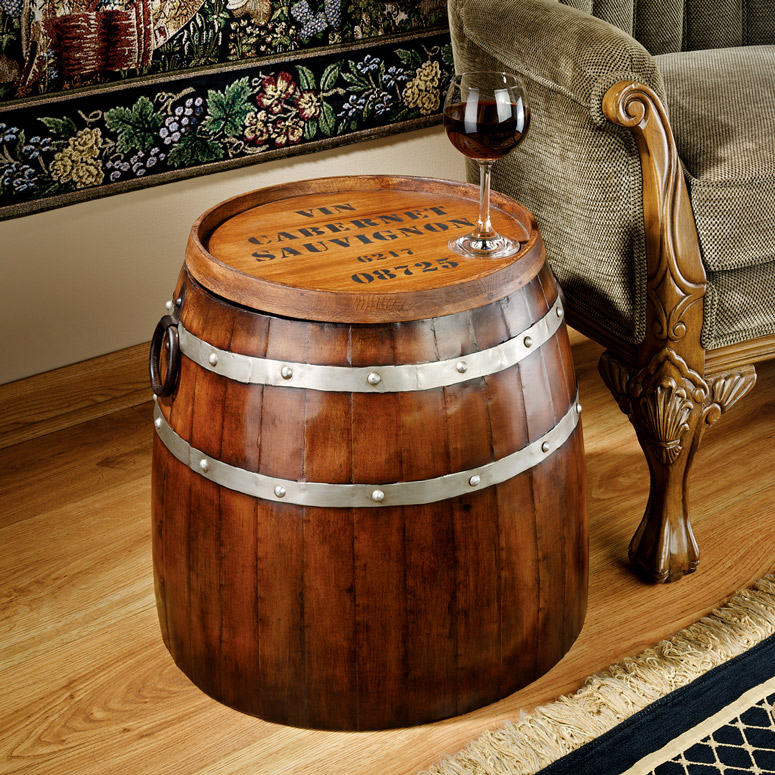 French Wine Barrel Side Table  The Green Head