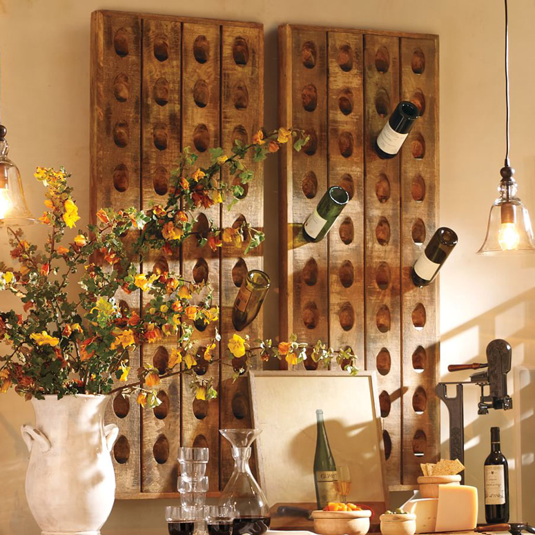 French Wine Bottle Riddling Rack The Green Head