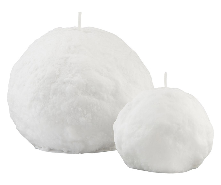 Frosty Snowball Candles