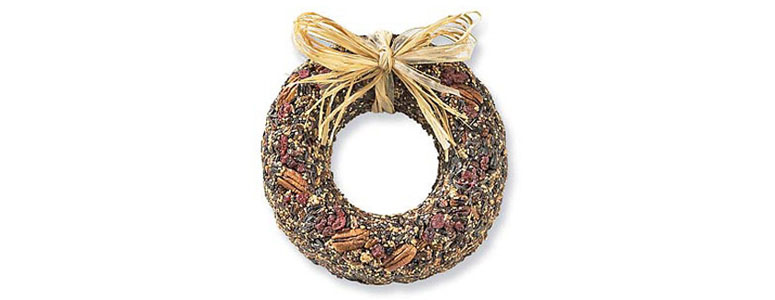 Fruitcake Bird Wreath Feeder