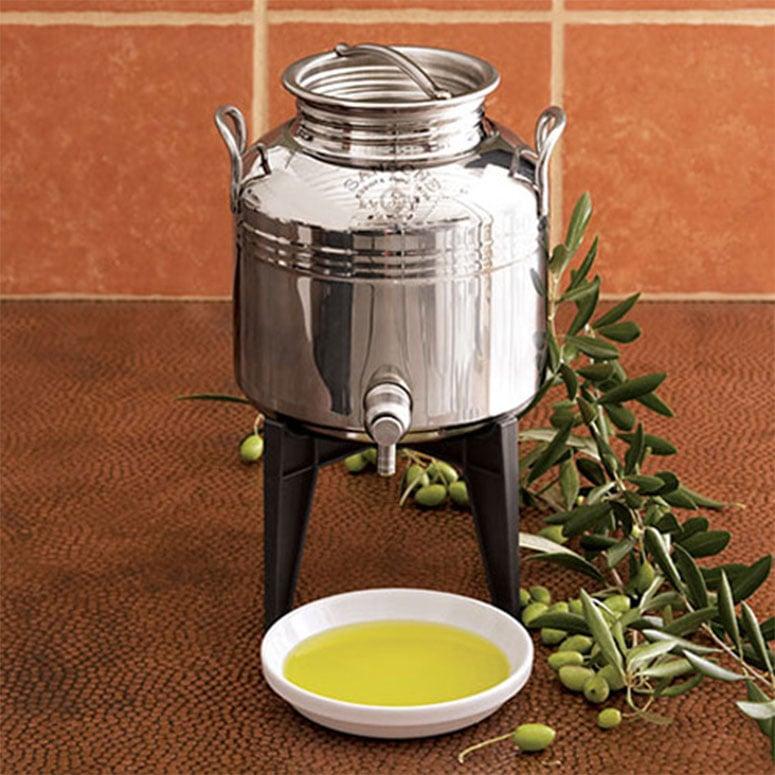 fustino stainless steel olive oil dispenser the green head. Black Bedroom Furniture Sets. Home Design Ideas
