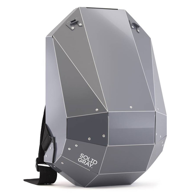 Futuristic Hardshell Backpack by Solid Gray