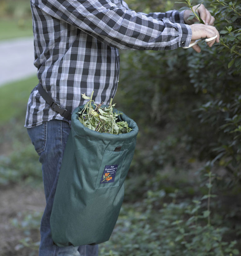Gardener's Hollow Leg Tote - Hands-Free Pruning, Weeding and Harvesting