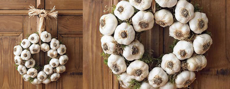 Garlic Halloween Wreath