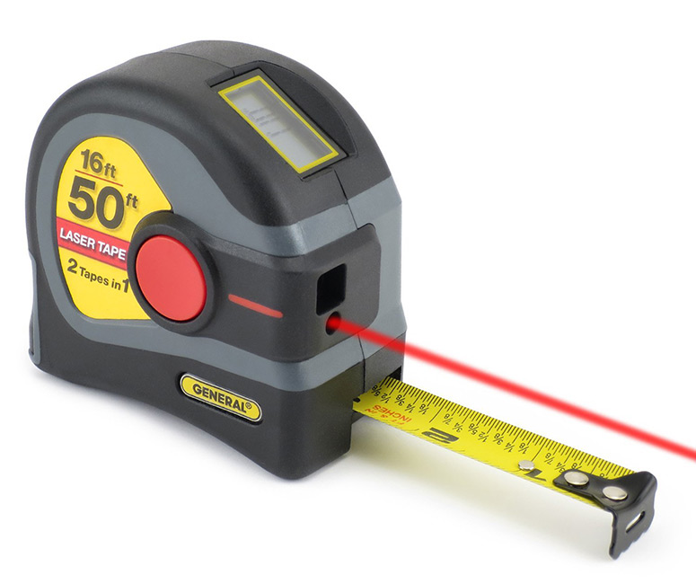 Digital Distance Measuring Instruments : General tools in laser tape measure the green head