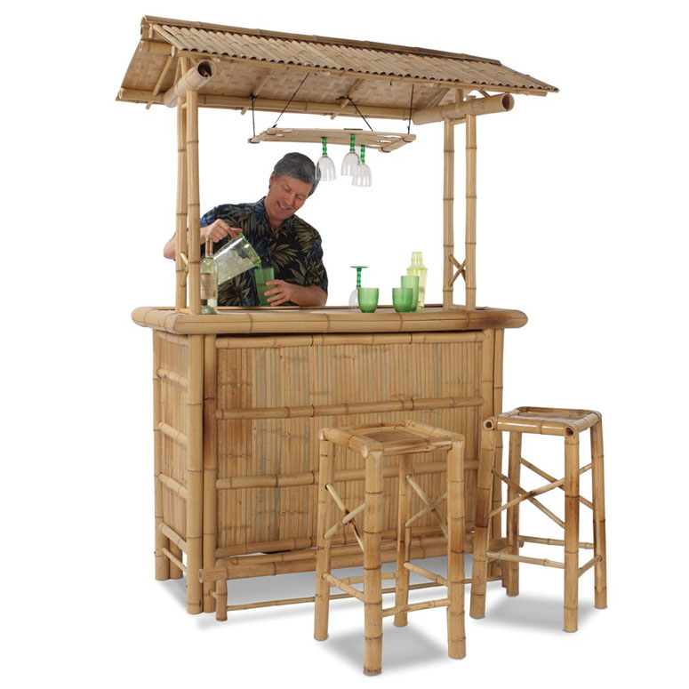 Genuine bamboo tiki bar the green head - Bamboo bar design ideas ...