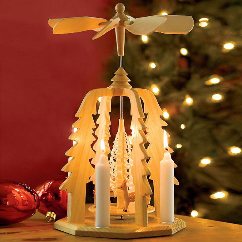 German Christmas Pyramid - Wooden Candle-Powered Carousel - The ...