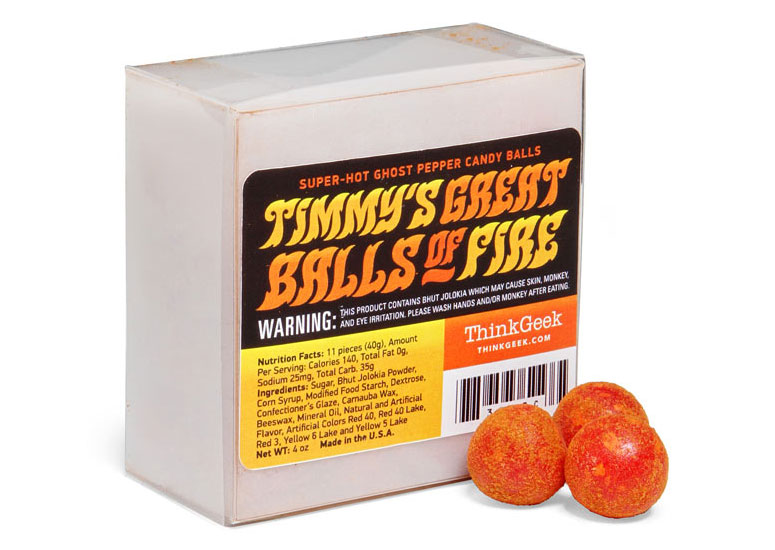 Ghost Pepper Super Hot Candy Balls