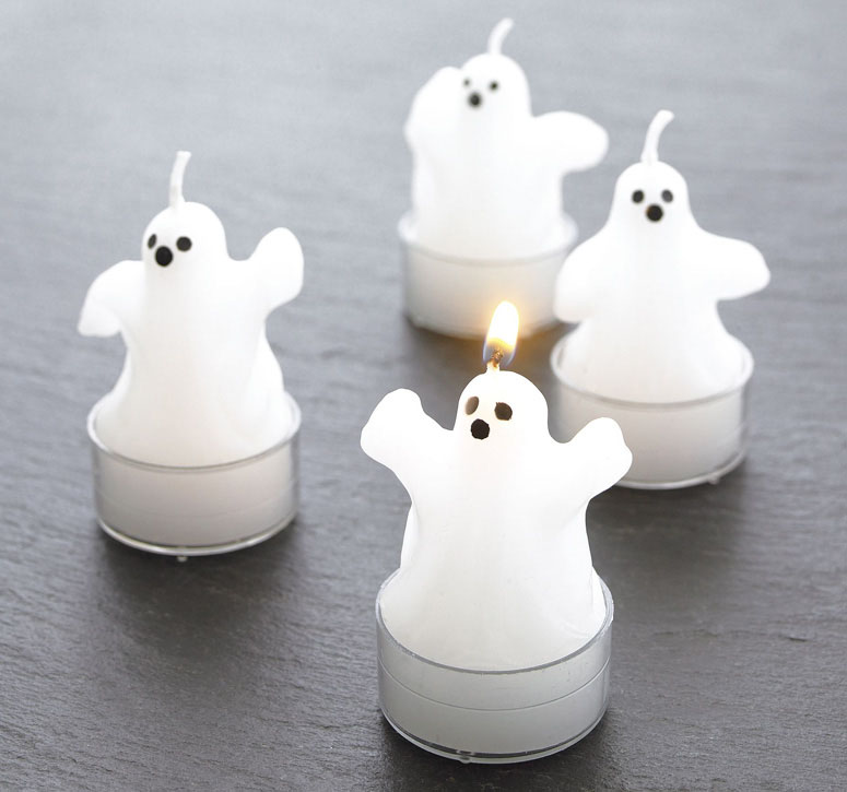 Ghost Tealight Candles