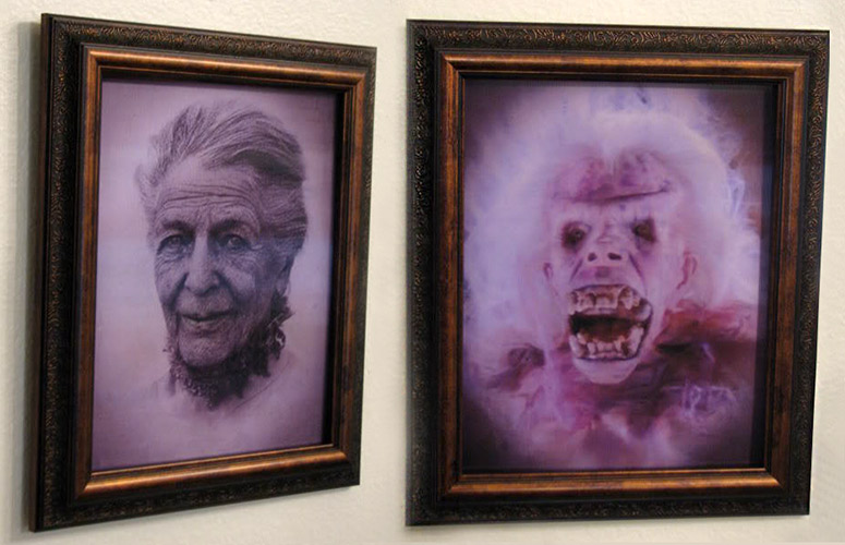 Ghostbusters Library Ghost Transforming Portrait