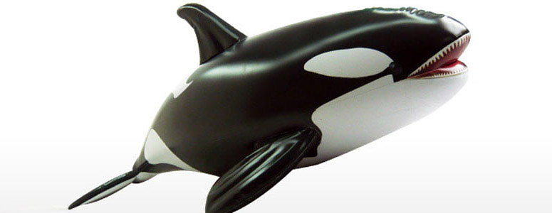giant 7 inflatable killer whale   the green head