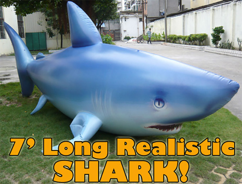 Giant 7u0027 Inflatable Shark