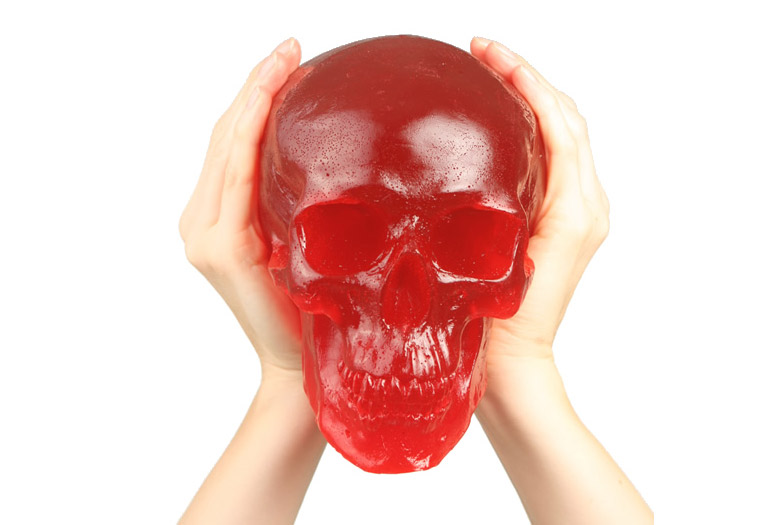Giant Glowing Gummy Skull The Green Head