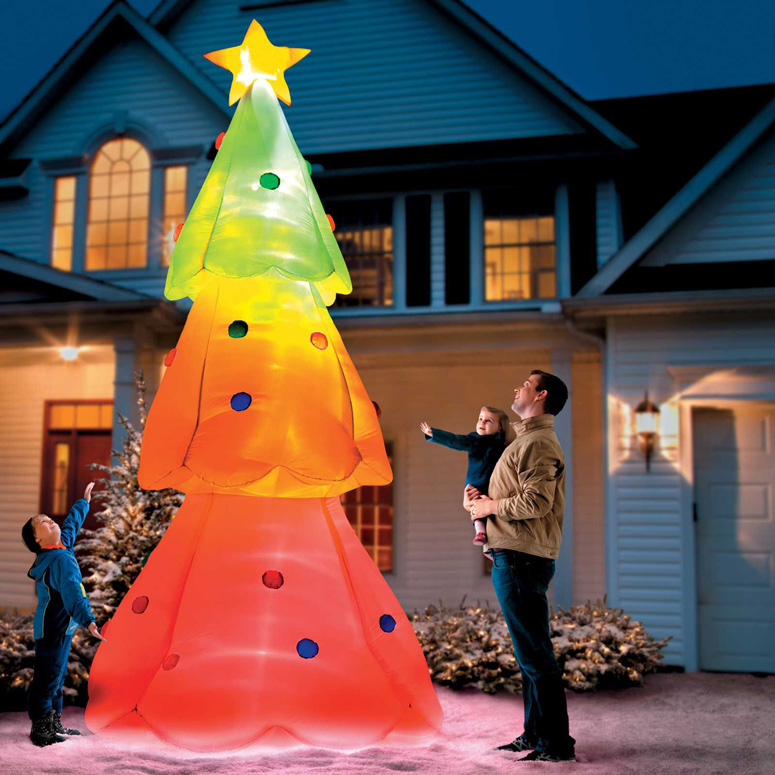 Giant Inflatable Color-Changing Christmas Tree - The Green Head