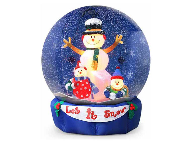 Giant Inflatable Snow Globes - They Actually Snow Inside!! - The ...
