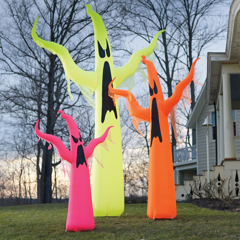 Giant Neon Inflatable Ghosts