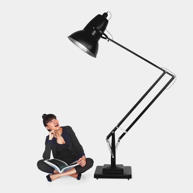 gigantic anglepoise original 1227 floor lamp the green head. Black Bedroom Furniture Sets. Home Design Ideas