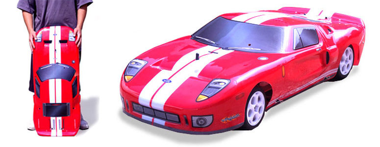 Gigantic Ford GT Nitro Gas RC Car Goes 60 MPH - VIDEO