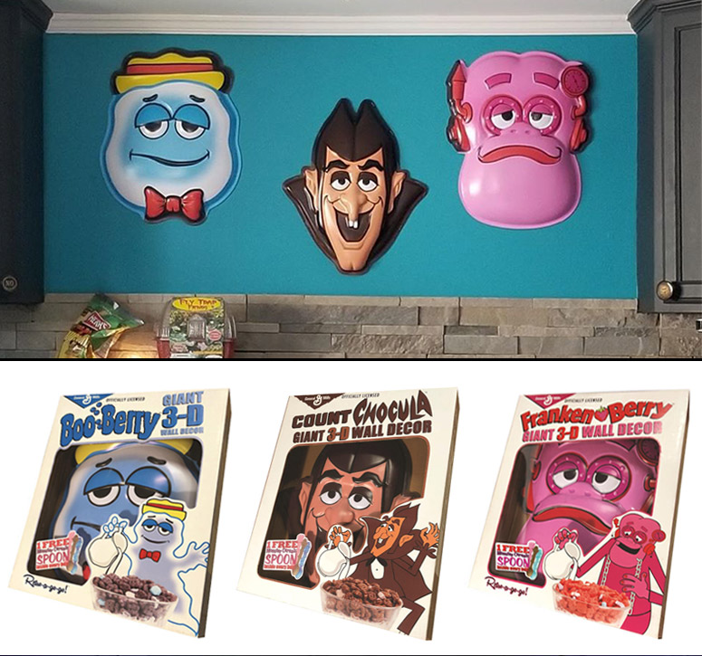 Gigantic Retro Monster Cereals 3D Masks / Wall Decor