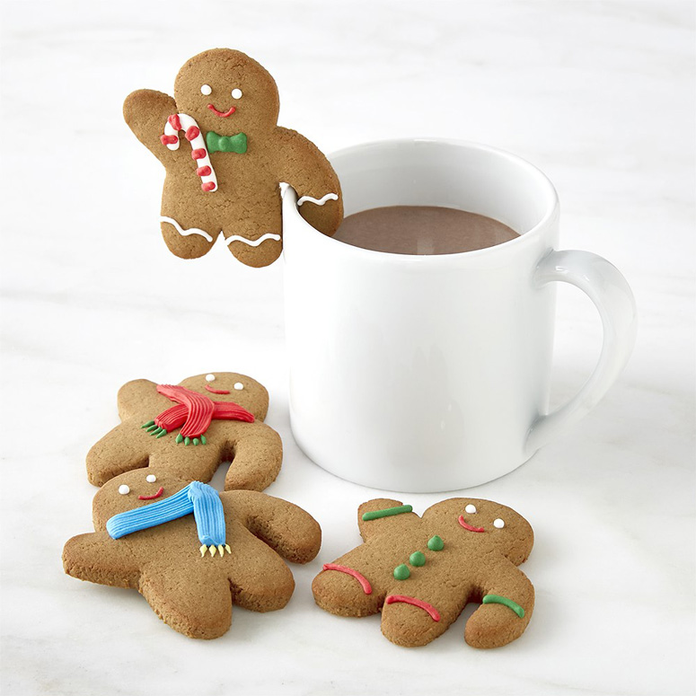Gingerbread Man Cookie Mug Toppers