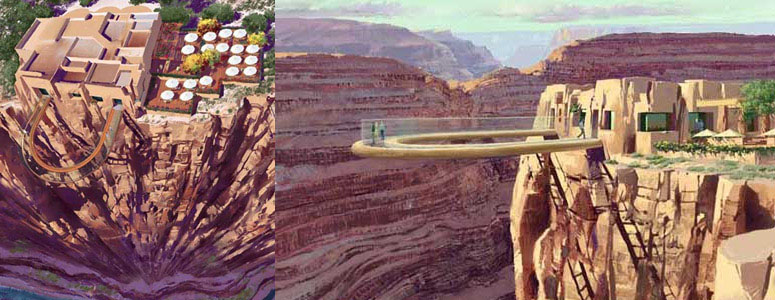 Glass-Bottomed Grand Canyon Skywalk - 4000 Feet High!