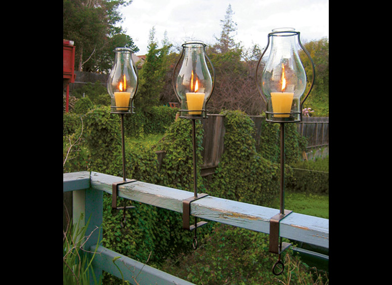 Glass Hurricane Railing Lanterns The Green Head
