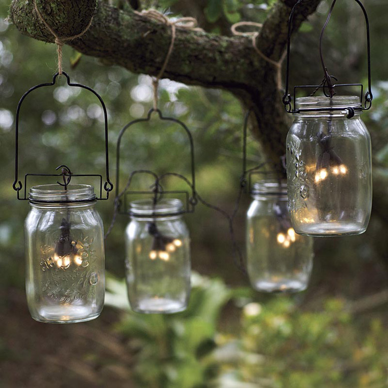 glass mason jar solar string lights the green head