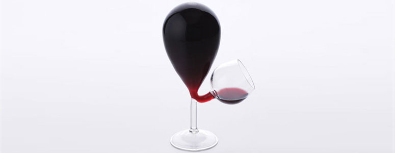 Glass Tank Wine Glass - Automatically Refills!