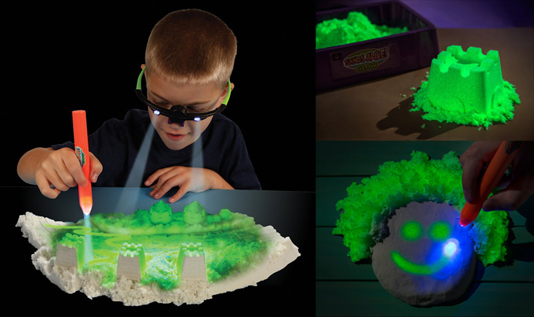 Glow In The Dark Kinetic Sand The Green Head