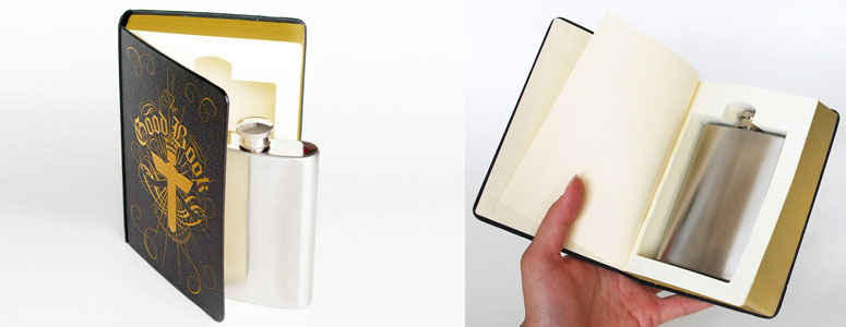 Good Book Flask - Secret Compartment Bible!