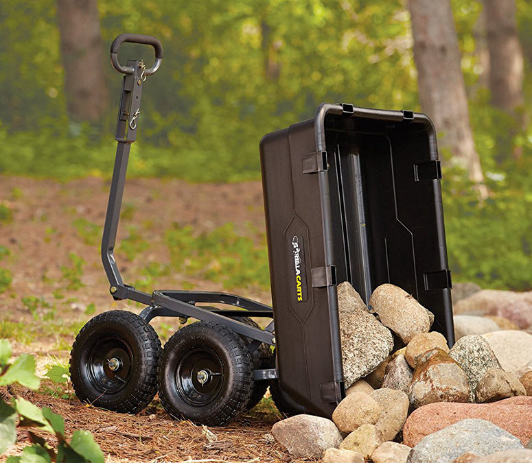 Gorilla Cart Heavy Duty Yard And Garden Dump Cart The