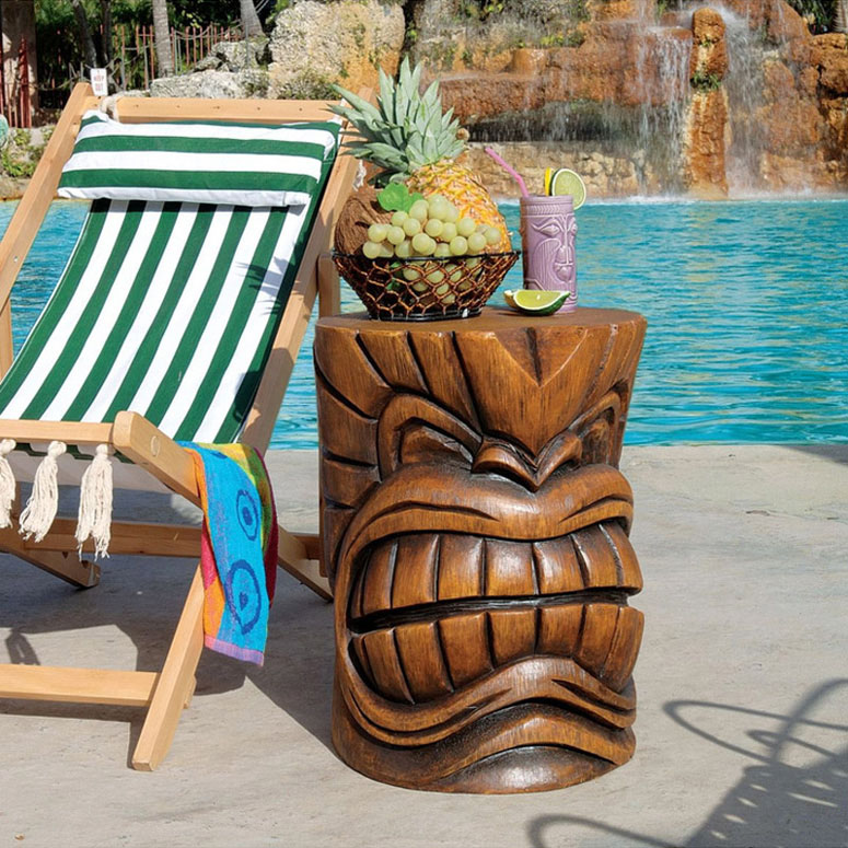 Grand Tiki Head Sculptural Table The Green