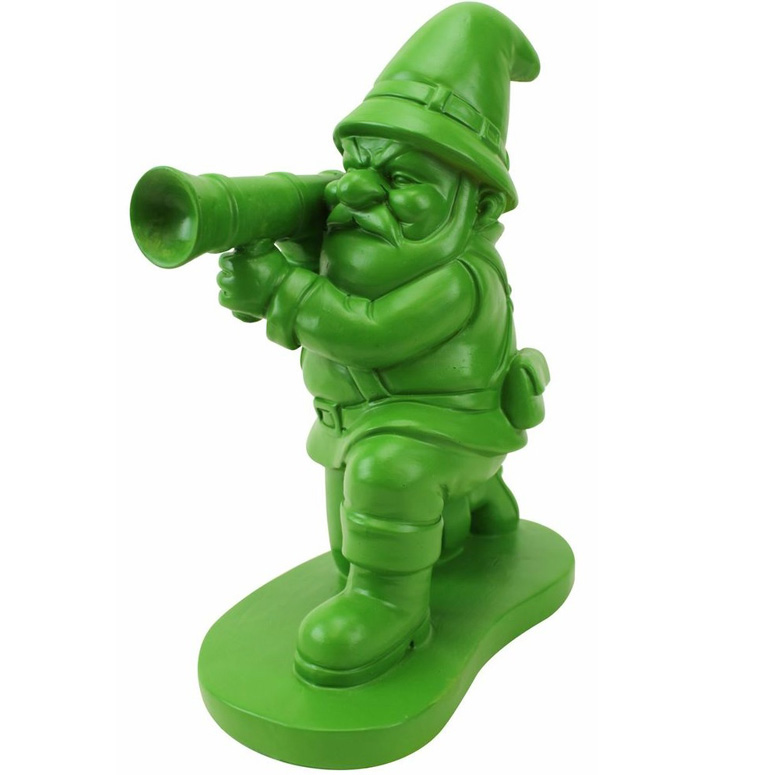 Green Army Man Garden Gnome
