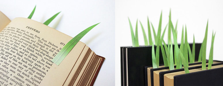 Green Marker - Grass Blade Bookmarks