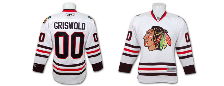 clark griswold chicago blackhawks jersey from christmas vacation - Blackhawks Christmas