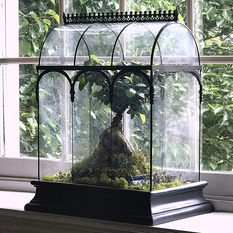 H Potter Glass Terrarium Planter