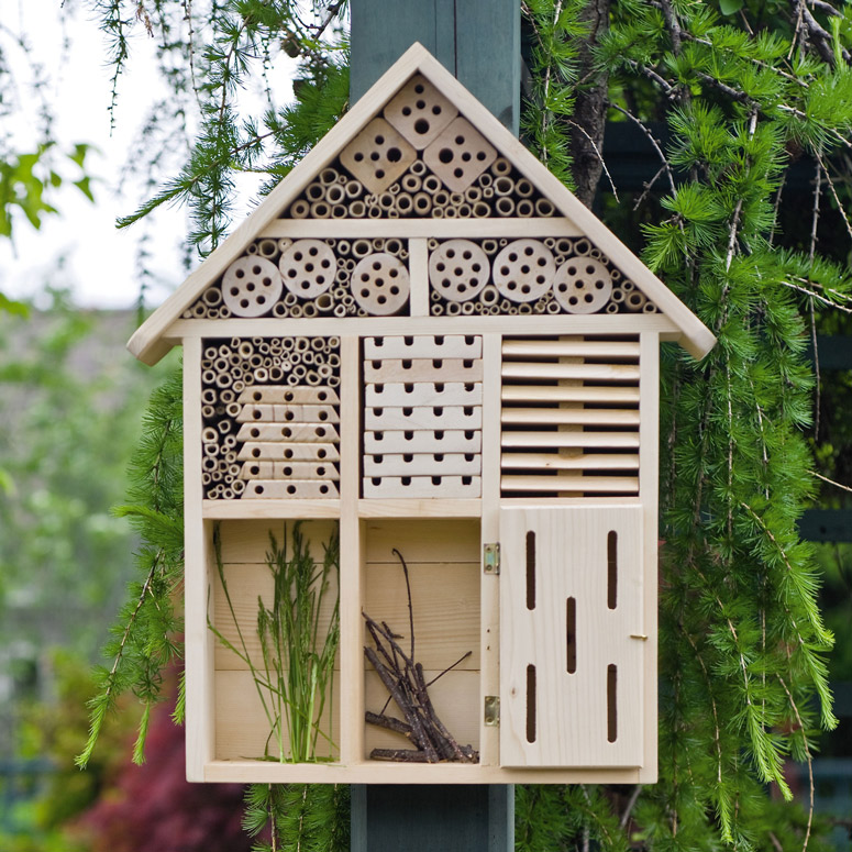 Habitat hotel attracts beneficial pollinating - House habitat ...