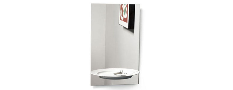 Half A Portion - Mirror With Illusion Shelf
