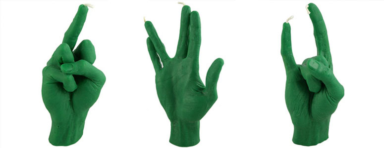 Hand Gesture Candles From L Atelier Wm The Green Head